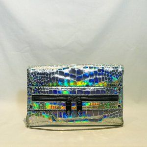 Milly Silver Holographic Clutch NWT